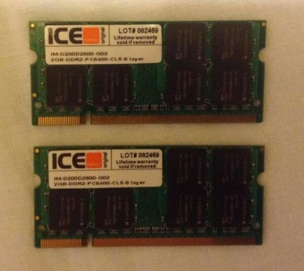 4GB KIT 2 x 2GB PC2-6400 DDR2 - 800Mhz 200pin For iMac